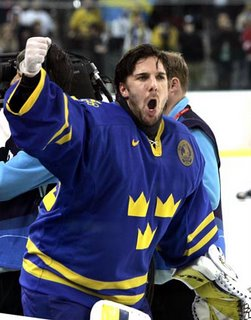 Henrik Lundqvist and Sweden win Gold Medal