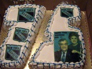 Mike's 75th Birthday NY Ranger Cake