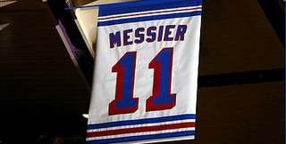 Number 11 - Mark Messier - goes up in the rafters