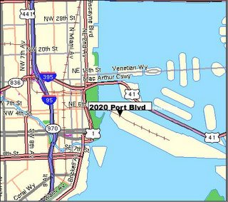 Port Miami Map