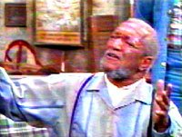 comedian & sitcom star Redd Foxx: 'This is big one Elizabeth'(my heart attack is here)