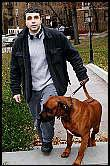 Dimitri Sheinman walks his dog