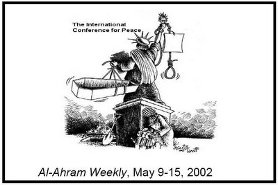 Anti-American Cartoon from Arab Al Ahram Weekly May 9-15, 2002