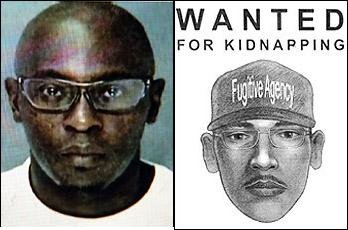 Darryl Littlejohn and sketch of rapist/kidnapper