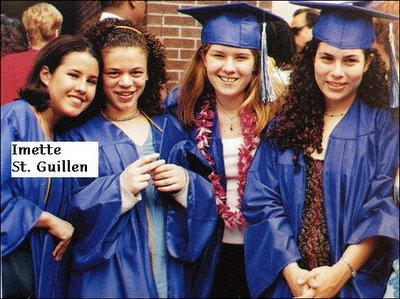 Imette St. Guillen, left, posing with friends at her high school graduation