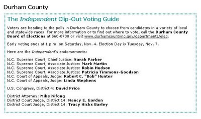 Indy Clip-Out Voting Guide for Durham County