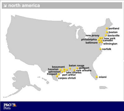 21 Peninsular & Oriental Port Facilities in US