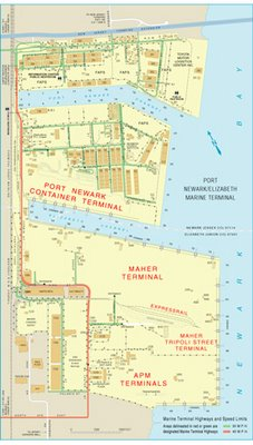 Port Newark Marine Terminal Map