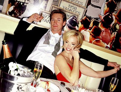 Wayne Gretzky and his wife Janet Jones