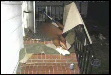 passed out accuser laying on back steps of Duke house