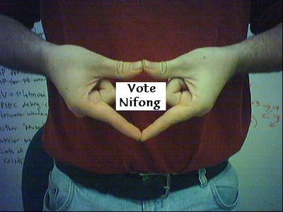 Durham Gang Sign: Vote Nifong