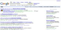 Google affiche une liste de livres indexés