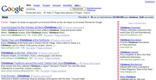 christmas sur google