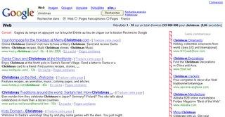 christmas sur google