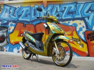 modifikasi motor mio sporty ring 17  paling bagus