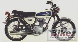 Motorcycle Honda CB 100 classic