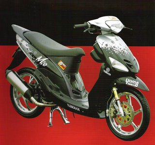 modifikasi motor mio sporty black  paling bagus