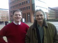 wim and I, photo taken in front of our company restaurant before lunch. Later published on the 576store website
