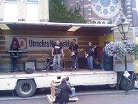 The Antones op de vrachtwagen bij de Poortwachter