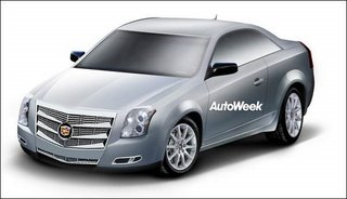Autoweek.com sketch of CTS Coupe
