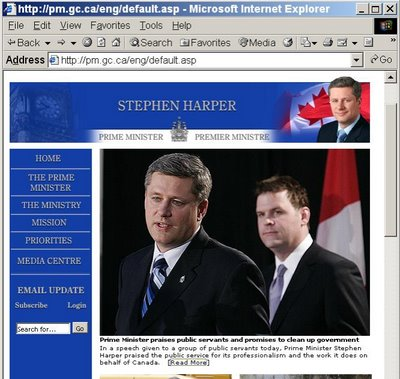 Prime Minister's website, 4:00pm EST, March 29, 2006