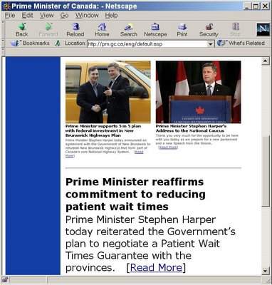 Prime Minister's website, March 30, 2006