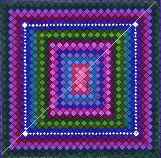 Boston Commons Quilt, colored grid, Robin Atkins