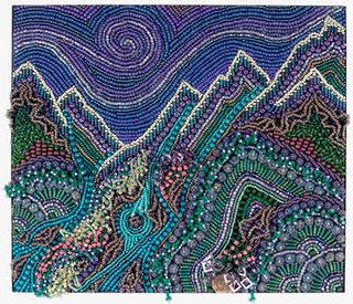 bead embroidery by by Robin Atkins, bead artist