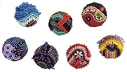 beaded buttons by Robin Atkins, bead artist