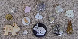 rabbit buttons of assorted materials