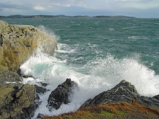 San Juan Channel from Cattle Point, San Juan Island, WA; photo by Robin Atkins, bead artist