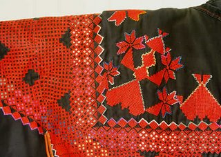 Syrian wedding dress, detail, photo by Robin Atkins, bead artist