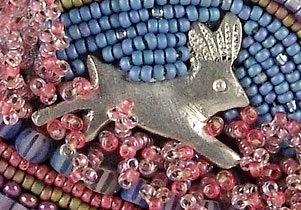 bead embroidery by Robin Atkins, bead artist