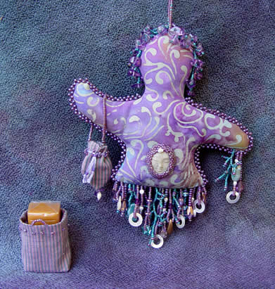 spirit doll by Robin Atkins, bead artist