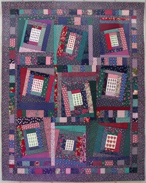 Order & Chaos, quilt by Robin Atkins, bead artist