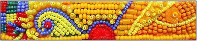 Yellow Color Study, bead embroidery by Robin Atkins, bead artist