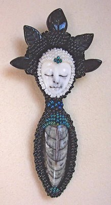 beaded pin by Tressie Hughes