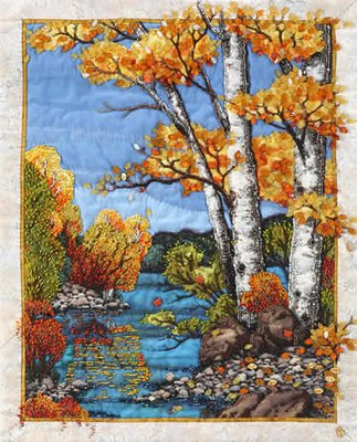 beaded quilt by Thom Atkins