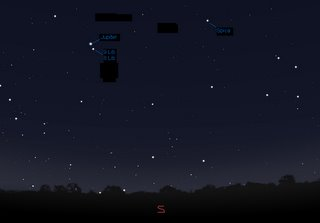 Night sky showing Jupiter, 8 Lib and 9 Lib