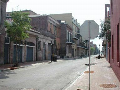 Empty French Quarter, New Orleans, 2005