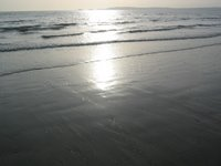 A picture of the sun shimmering on Swansea Bay