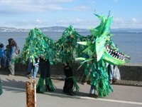 a picture of a dragon from the parade