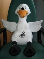 Picture of Cyril the Swan mascot