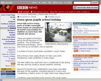 Screen Dump from BBC Wales web site