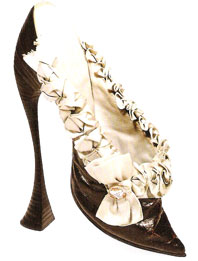 Austrian fetish shoe, 8 inches, ca. 1900