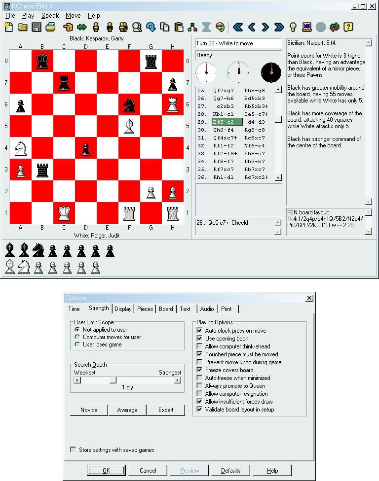 체스 프로그램: KChess Elite