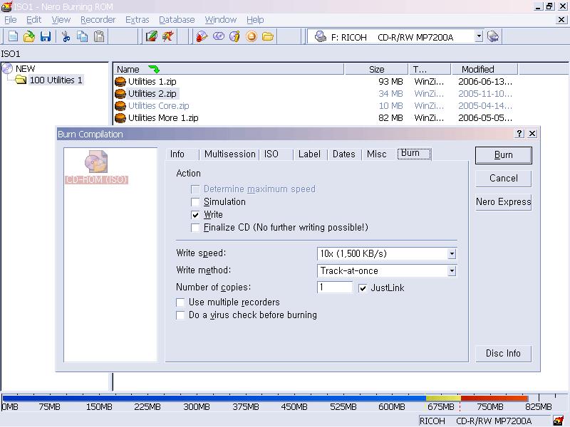 CDRW 굽는 프로그램