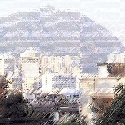 포토샵 예제: Rough Pastels 필터로, 파스텔 효과를 준 사진