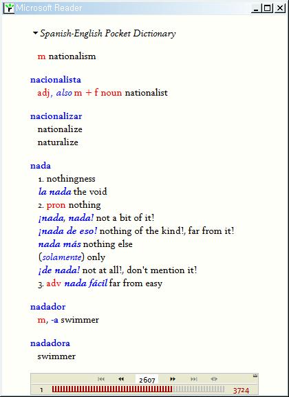 스페인어-영어사전(Spanish-English)