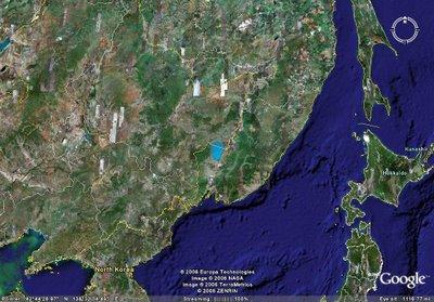 중국 흑룡강성 위성사진